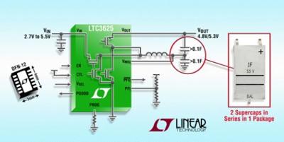 凌力尔特推出最新型超级电容器充电器
