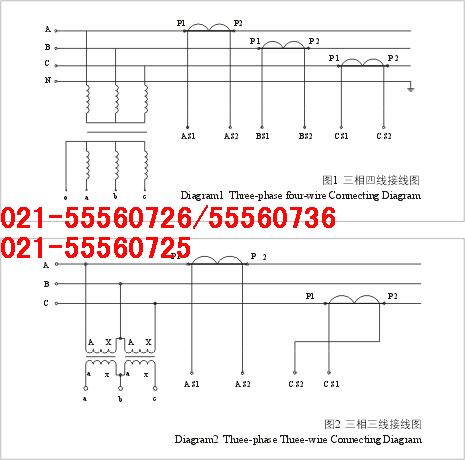 互感器p1p2电表接线图