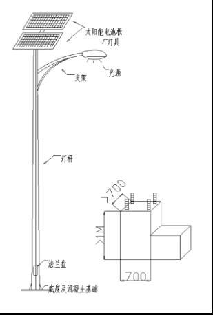 花园路灯平面设计手绘图