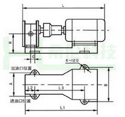 电机控制油泵接线图