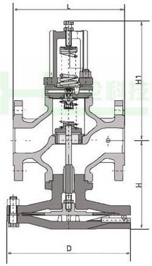 yd43h-先导式超大膜片高灵敏度减压阀图片