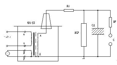 被试品工频耐压试验接线图