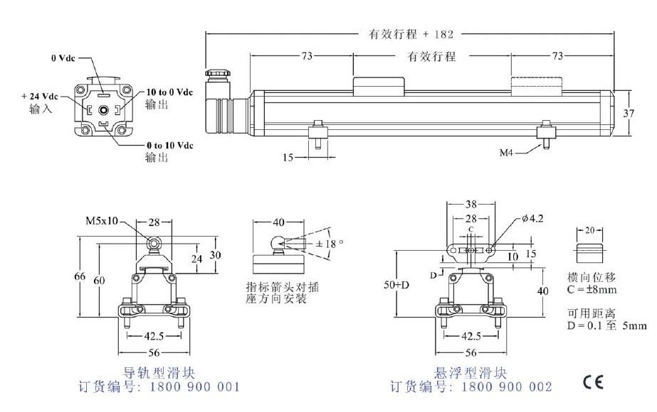 传感器 湿度传感器 mts 供应德国磁致伸缩位移传感器  基本参数 测量