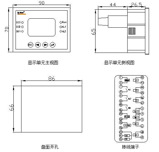 从热态开始 外形尺寸及接线 如有兴趣需要详细资料,请联系我们 江苏安