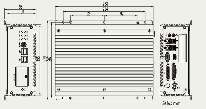 产品特点: 无风扇设计 宽幅直流电源输入(10~28v) 串口带5v/12v