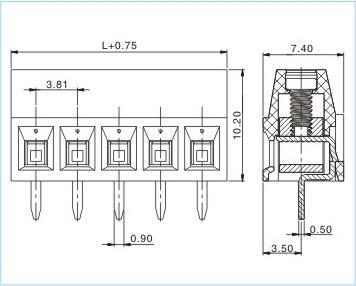 1-xx-3.81-00 欧州式接线端子
