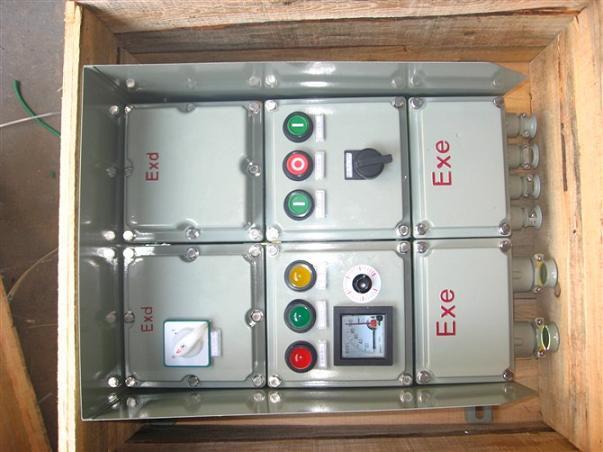 bxq防爆电磁阀控制箱,1控2防爆插板阀门 不锈钢防爆操作柱,bzc51