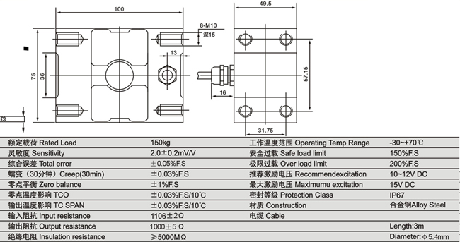 称重传感器系列 箱式usb