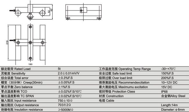 称重传感器系列 电梯dte-a