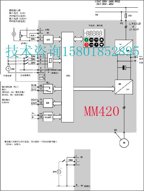 > 西门子mm420接线端子图