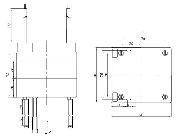 hmb-u28型特高耐压脉冲可控硅触发变压器